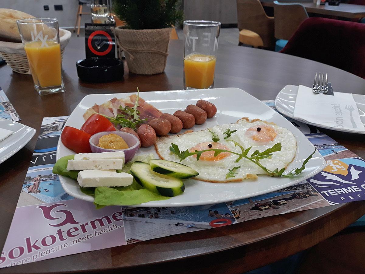 Doručak u restoranu hotela Vrnjačke Terme